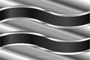 texturas angulares metálicas com painéis ondulados de fibra de carbono vetor