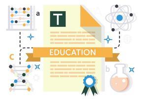 Ilustração gratuita do vetor de educação plana