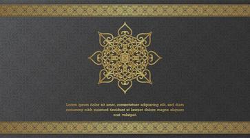 modelo de cartão elegante forma ornamental e fronteira vetor