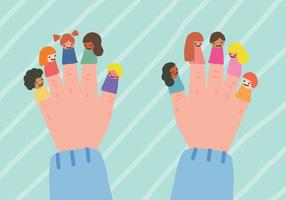 Fantoches de dedo vetor