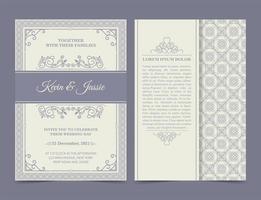 cartão de convite pastel estilo vintage vetor