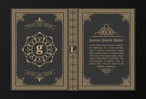 capa de livro ornamental vetor