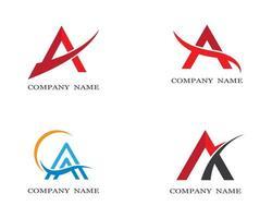 letra '' a '' conjunto de símbolo e logotipo vetor