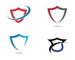 logotipos do ícone de escudo vetor
