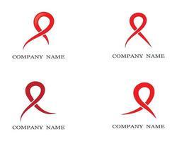 conjunto de logotipo de símbolo de fita vetor