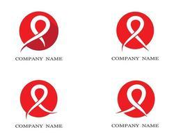 conjunto de logotipo de ícone de símbolo de fita vetor