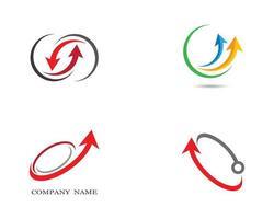 conjunto de logotipos de ícone de símbolos de seta vetor