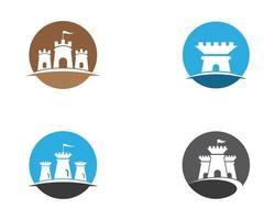 conjunto de ícones de símbolo de castelo