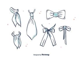 Gravatas e Cravat Vector