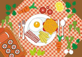 Design de vetores de jantar grátis