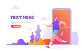 design de atividades esportivas para site e site para celular vetor