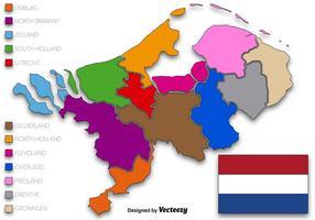 Ilustração vetorial do estado dos Países Baixos vetor