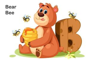 b para abelha urso