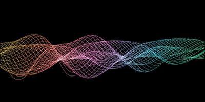 ondas sonoras abstratas vetor