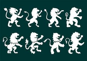 Ícones desenfreados de leão vetor