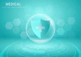 escudo de proteção médica vetor