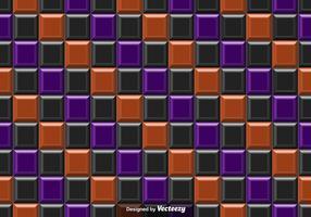 Vetor Laranja e azulejos pretos Fundo abstrato - Padrão sem costura