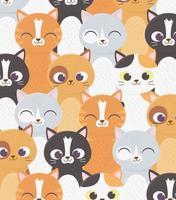 gatos de fundo vetor