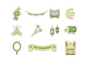 Livre Eid Mubarak Vector