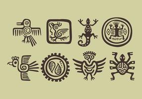 Ícones do Incas do vetor