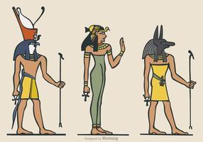 Símbolos antigos egípcios do vetor livre