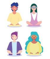 design plano diversos personagens