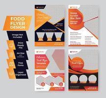 conjunto de modelos de panfleto de alimentos