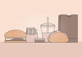 Ilustração vetorial de fast food vetor