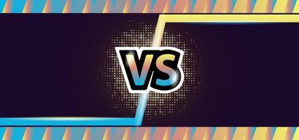 tela colorida versus fundo de modelo vetor