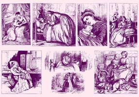Ilustrações da mãe do vintage vetor