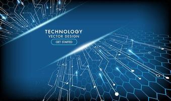conceito de comunicação de alta tecnologia design abstrato de tecnologia vetor