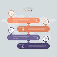 anúncio infográfico laranja e roxo
