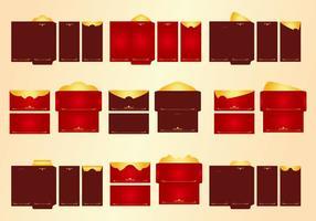 Conjunto de vetores de pacote vermelho de dinheiro do modelo