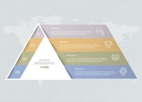 infográfico de triângulo e ícones de usuário para negócios