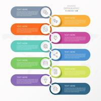 Infográfico de 10 etapas com formas de cápsula