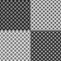 padrões sem costura preto e branco vetor