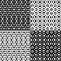 padrões geométricos sem costura retrô vetor