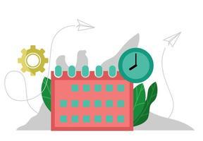 conceito de agendamento de tarefas vetor