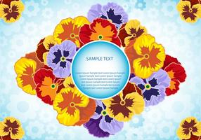 Pansy Flowers Vector illustration