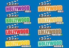 Film Cities Títulos vetor