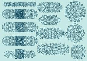 Divisores de scrollwork de linha