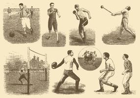 Esportes Vintage vetor