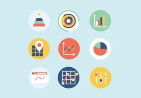 Vector de ícones digitais