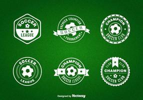 Emblemas de futebol de futsal gratuitos vetor