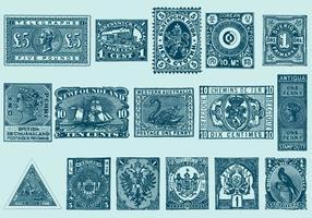 Selos vintage vetor