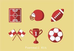 Vetor de ícones do futebol americano