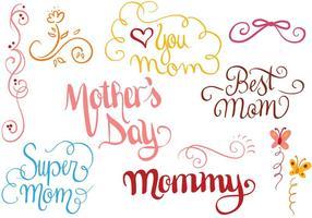 Vetores livres do dia da mãe 2
