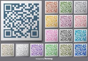 Cor para botões vetoriais RFID vetor