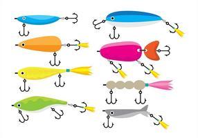 Ícones de atração de pesca vetor