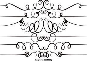 Conjunto de vetores de elementos scrollwork